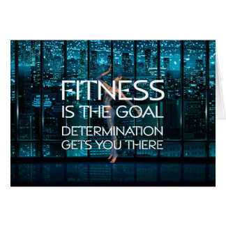 TOP Fitness Goal Greeting Card