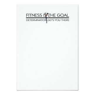 TOP Fitness Goal 5x7 Paper Invitation Card