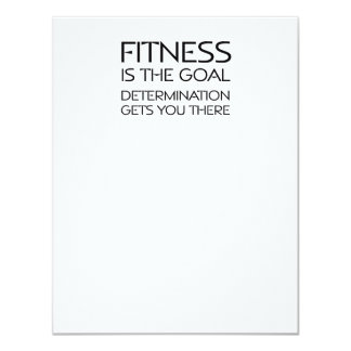 TOP Fitness Goal 4.25x5.5 Paper Invitation Card