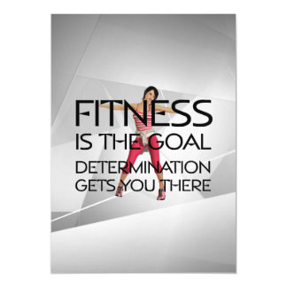 TOP Fitness Goal Magnetic Card