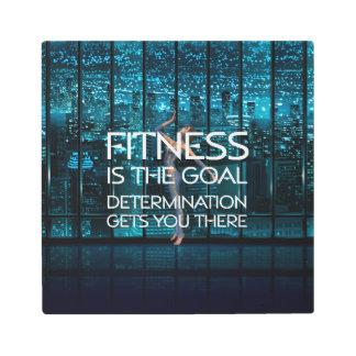 TOP Fitness Goal Metal Photo Print