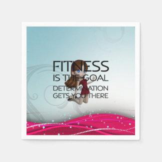 TOP Fitness Goal Paper Napkin