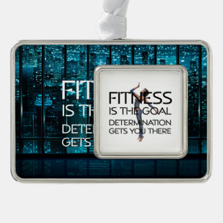 TOP Fitness Goal Silver Plated Framed Ornament