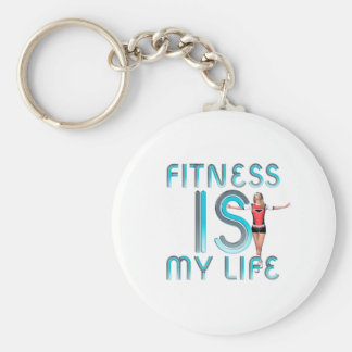 TOP Fitness Is My Life Basic Round Button Keychain