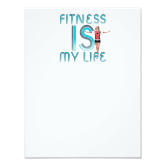 TOP Fitness Is My Life Card
