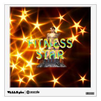 TOP Fitness Star Wall Sticker