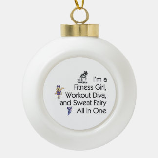 TOP Fitness Triple Play Ceramic Ball Christmas Ornament
