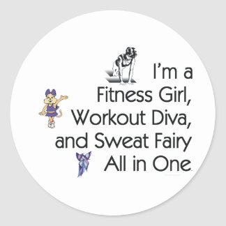 TOP Fitness Triple Play Classic Round Sticker