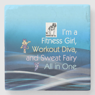 TOP Fitness Triple Play Stone Coaster
