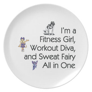 TOP Fitness Triple Play Melamine Plate