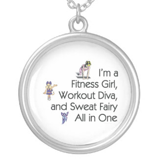 TOP Fitness Triple Play Round Pendant Necklace