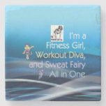 TOP Fitness Triple Play Stone Beverage Coaster
