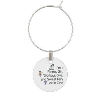 TOP Fitness Triple Play Wine Charm