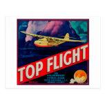 Top Flight Orange LabelTustin, CA Post Card