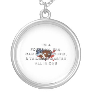 TOP Football All in One Round Pendant Necklace