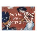 TOP Football Girl Business Cards