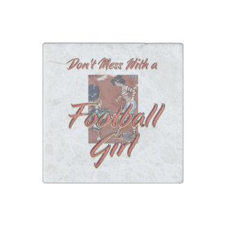 TOP Football Girl Stone Magnet