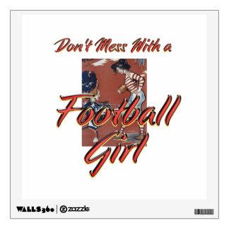 TOP Football Girl Wall Sticker