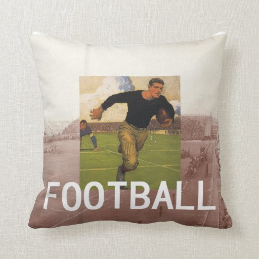 TOP Football Old School Throw Pillow