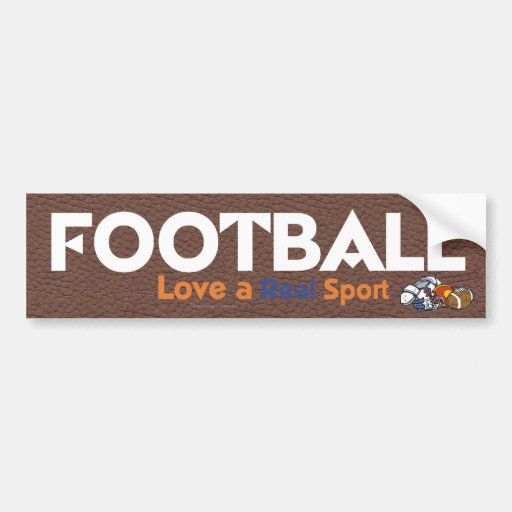 TOP Football Real Sport Car Bumper Sticker