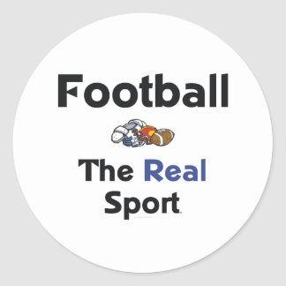 TOP Football Real Sport Classic Round Sticker