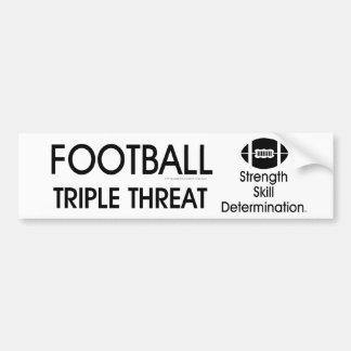 TOP Football Triple Threat Car Bumper Sticker