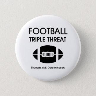 TOP Football Triple Threat Pinback Button
