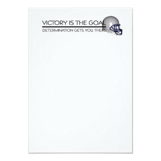 TOP Football Victory Slogan Card