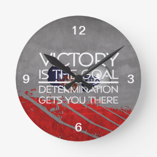 TOP Football Victory Slogan Round Clock