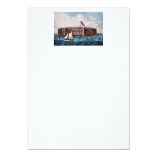 TOP Fort Sumter 5x7 Paper Invitation Card