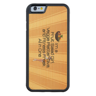 TOP Fruit Salad Fitness Carved Maple iPhone 6 Bumper Case