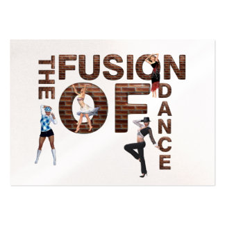 TOP Fusion of Dance Large Business Cards (Pack Of 100)