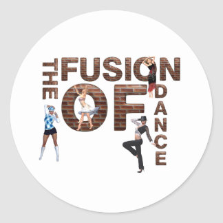 TOP Fusion of Dance Classic Round Sticker