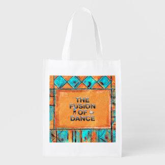 TOP Fusion of Dance Reusable Grocery Bag
