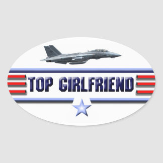 Top Girlfriend Logo Oval Sticker
