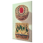 Top: Gold snuffbox inlaid with various stones Stretched Canvas Prints