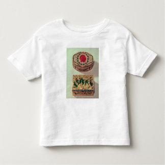 Top: Gold snuffbox inlaid with various stones Toddler T-shirt