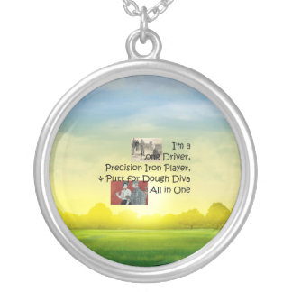 TOP Golf Diva All in One Round Pendant Necklace