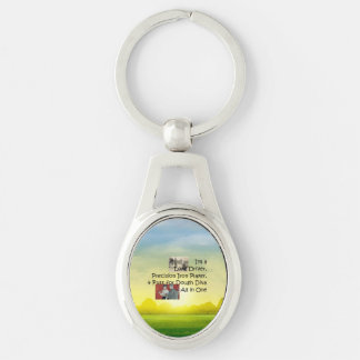 TOP Golf Diva All in One Silver-Colored Oval Metal Keychain