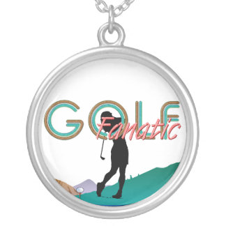 TOP Golf Fanatic Silver Plated Necklace