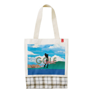 TOP Golf Fanatic Zazzle HEART Tote Bag
