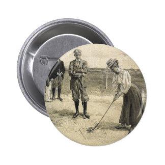 TOP Golf Girl 2 Inch Round Button
