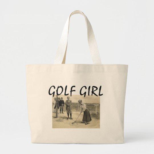TOP Golf Girl Large Tote Bag