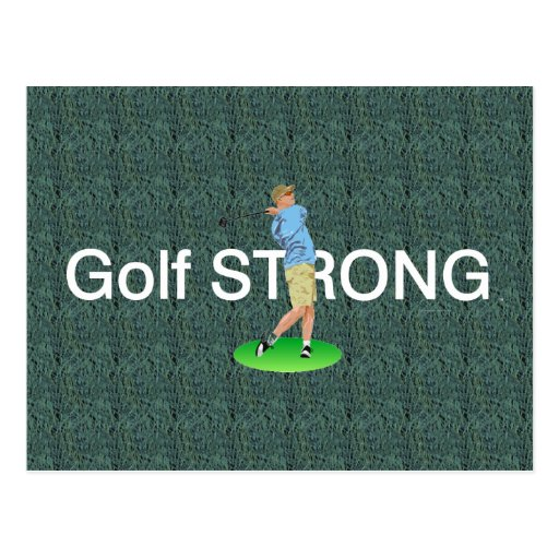 TOP Golf Strong Postcard
