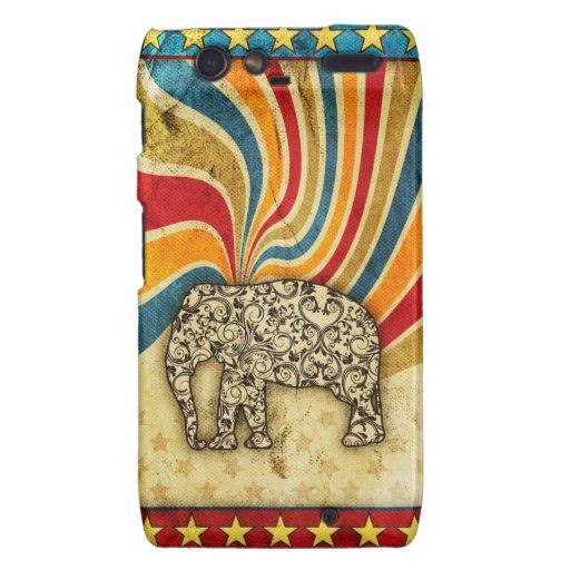 Top grande del elefante del circo del vintage droid RAZR carcasa