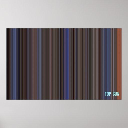 Top Gun - código de barras de la película Póster