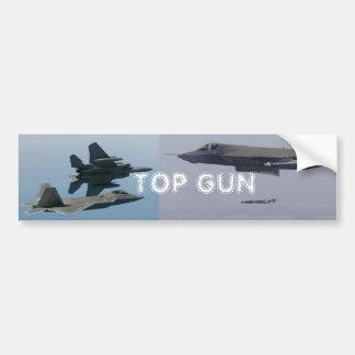 TOP GUN F-15, F-22, F-35 IN FLIGHT BUMPER STICKER