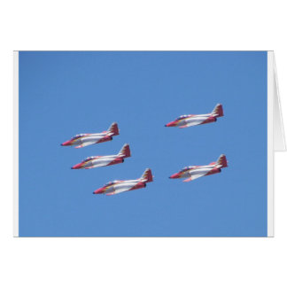 Top Gun in the air. Card
