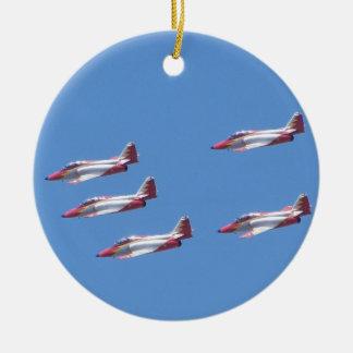 Top Gun in the air. Ceramic Ornament