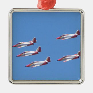 Top Gun in the air. Metal Ornament